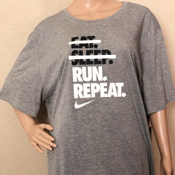 Nike Eat Sleep Run Repeat Mens T-Shirt Gray ca4781a5a